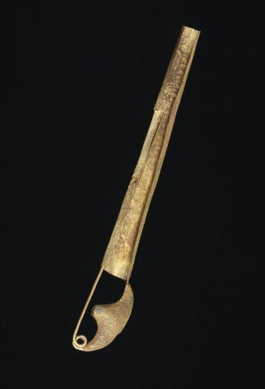 "Gold fibula of ""sanguisuga"" type"